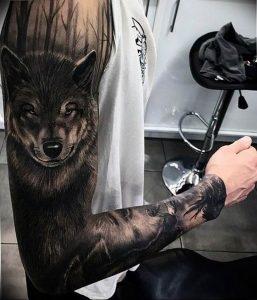 Фото тату волк 20.05.2019 №359 - photo tattoo wolf - tattoo-photo.ru