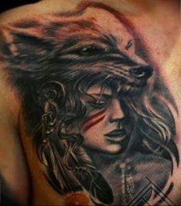 Фото тату волк 20.05.2019 №377 - photo tattoo wolf - tattoo-photo.ru