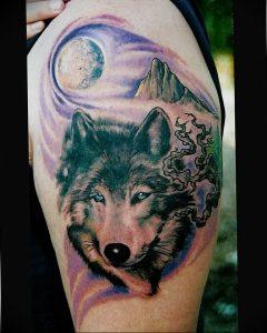 Фото тату волк 20.05.2019 №386 - photo tattoo wolf - tattoo-photo.ru