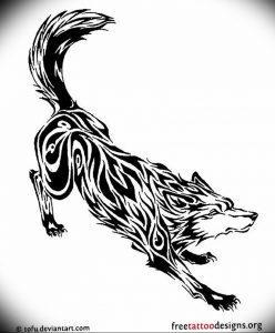 Фото тату волк 20.05.2019 №396 - photo tattoo wolf - tattoo-photo.ru