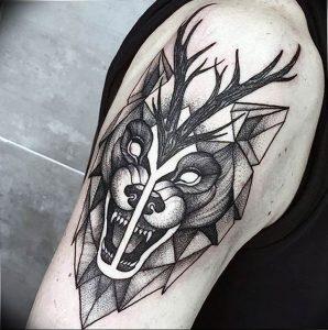 Фото тату волк 20.05.2019 №400 - photo tattoo wolf - tattoo-photo.ru