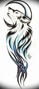 Фото тату волк 20.05.2019 №412 - photo tattoo wolf - tattoo-photo.ru