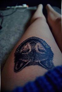 Фото тату волк 20.05.2019 №416 - photo tattoo wolf - tattoo-photo.ru
