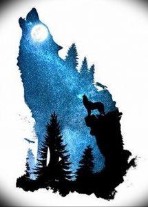 Фото тату волк 20.05.2019 №420 - photo tattoo wolf - tattoo-photo.ru