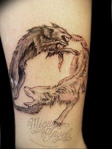 Фото тату волк 20.05.2019 №424 - photo tattoo wolf - tattoo-photo.ru