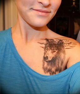 Фото тату волк 20.05.2019 №428 - photo tattoo wolf - tattoo-photo.ru