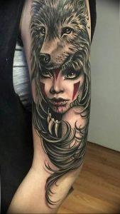 Фото тату волк 20.05.2019 №429 - photo tattoo wolf - tattoo-photo.ru