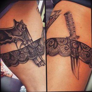 Фото тату подвязка для чулков 20.05.2019 №003 - photo tattoo garter - tattoo-photo.ru