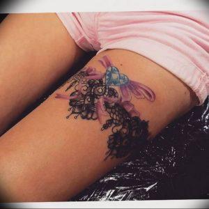 Фото тату подвязка для чулков 20.05.2019 №011 - photo tattoo garter - tattoo-photo.ru