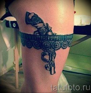 Фото тату подвязка для чулков 20.05.2019 №016 - photo tattoo garter - tattoo-photo.ru