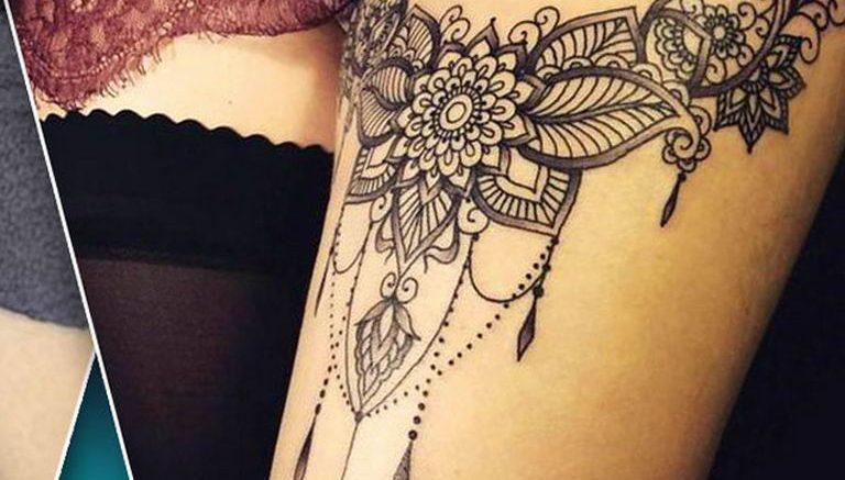 Фото тату подвязка для чулков 20.05.2019 №022 - photo tattoo garter - tattoo-photo.ru