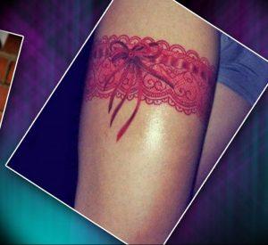 Фото тату подвязка для чулков 20.05.2019 №029 - photo tattoo garter - tattoo-photo.ru