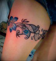 Фото тату подвязка для чулков 20.05.2019 №030 — photo tattoo garter — tattoo-photo.ru