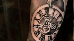 Фото тату часы 20.05.2019 №003 - photo tattoo watch - tattoo-photo.ru