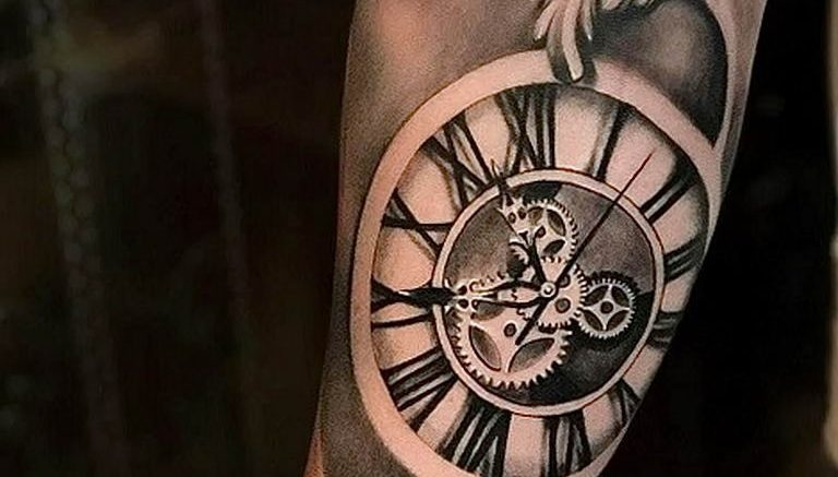 Фото тату часы 20.05.2019 №003 - photo tattoo watch - tattoo-photo.ru