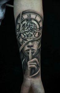 Фото тату часы 20.05.2019 №005 - photo tattoo watch - tattoo-photo.ru