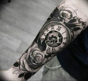 Фото тату часы 20.05.2019 №008 - photo tattoo watch - tattoo-photo.ru