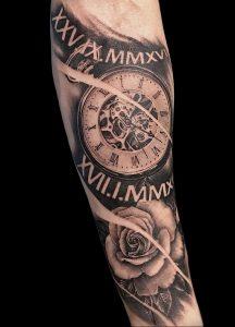 Фото тату часы 20.05.2019 №041 - photo tattoo watch - tattoo-photo.ru