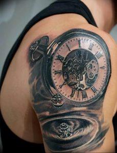 Фото тату часы 20.05.2019 №046 - photo tattoo watch - tattoo-photo.ru