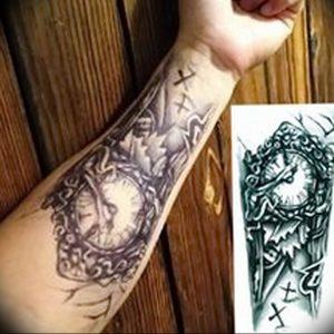 Фото тату часы 20.05.2019 №131 - photo tattoo watch - tattoo-photo.ru