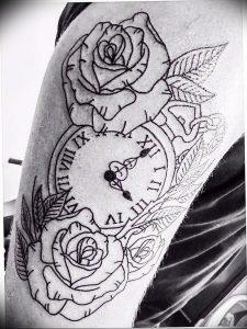 Фото тату часы 20.05.2019 №450 - photo tattoo watch - tattoo-photo.ru