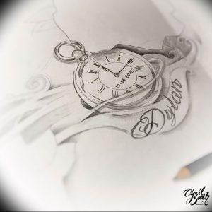 Фото тату часы 20.05.2019 №452 - photo tattoo watch - tattoo-photo.ru