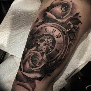 Фото тату часы 20.05.2019 №453 - photo tattoo watch - tattoo-photo.ru