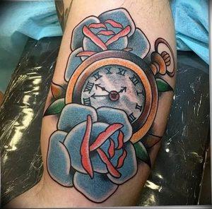 Фото тату часы 20.05.2019 №461 - photo tattoo watch - tattoo-photo.ru