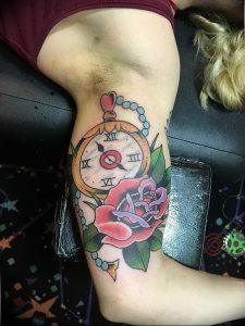 Фото тату часы 20.05.2019 №463 - photo tattoo watch - tattoo-photo.ru