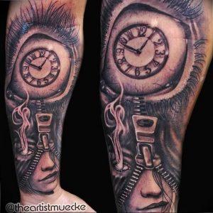 Фото тату часы 20.05.2019 №471 - photo tattoo watch - tattoo-photo.ru