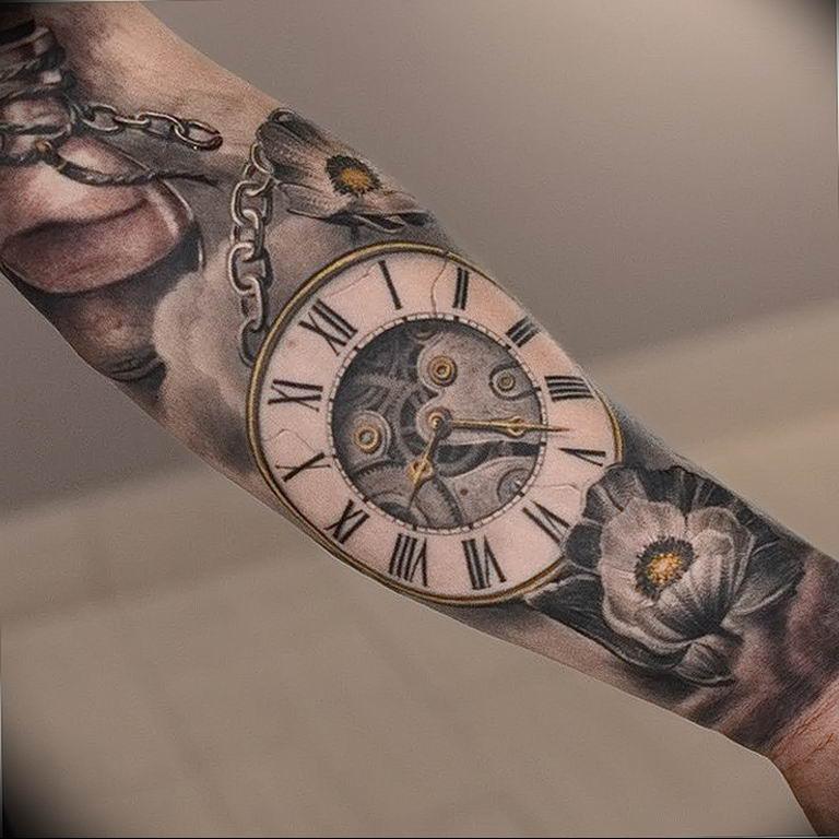 тату часы фото на руке если решили