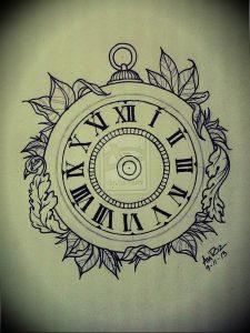 Фото тату часы 20.05.2019 №475 - photo tattoo watch - tattoo-photo.ru