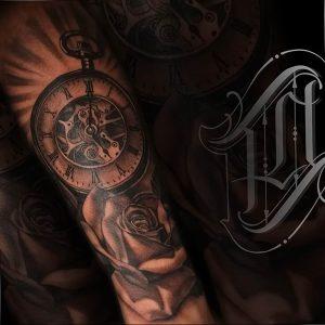 Фото тату часы 20.05.2019 №477 - photo tattoo watch - tattoo-photo.ru