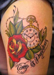 Фото тату часы 20.05.2019 №478 - photo tattoo watch - tattoo-photo.ru