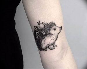 Фото вариант тату ежик 31.07.2019 №003 - tattoo hedgehog - tattoo-photo.ru