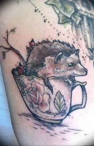Фото вариант тату ежик 31.07.2019 №022 - tattoo hedgehog - tattoo-photo.ru
