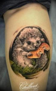 Фото вариант тату ежик 31.07.2019 №029 - tattoo hedgehog - tattoo-photo.ru