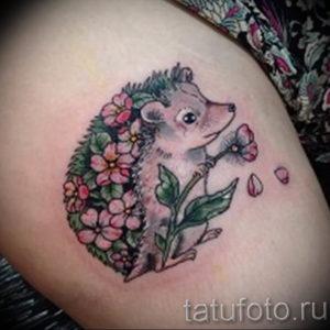 Фото вариант тату ежик 31.07.2019 №044 - tattoo hedgehog - tattoo-photo.ru