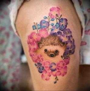 Фото вариант тату ежик 31.07.2019 №046 - tattoo hedgehog - tattoo-photo.ru