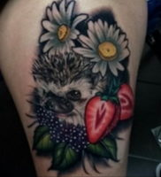 Фото вариант тату ежик 31.07.2019 №053 — tattoo hedgehog — tattoo-photo.ru