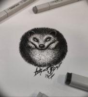 Фото вариант тату ежик 31.07.2019 №059 — tattoo hedgehog — tattoo-photo.ru