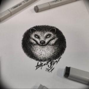 Фото вариант тату ежик 31.07.2019 №059 - tattoo hedgehog - tattoo-photo.ru