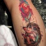 Фото вариант тату ежик 31.07.2019 №063 - tattoo hedgehog - tattoo-photo.ru