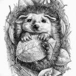 Фото вариант тату ежик 31.07.2019 №070 - tattoo hedgehog - tattoo-photo.ru