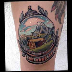 Фото маленькие тату горы 23.07.2019 №077 - little mountain tattoos - tattoo-photo.ru