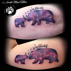 Фото созвездие медведицы тату 12.07.2019 №010 - constellation bears tatt - tattoo-photo.ru