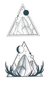 Фото тату горы в треугольнике 23.07.2019 №007 - mountain triangle tattoo - tattoo-photo.ru