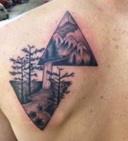 Фото тату горы в треугольнике 23.07.2019 №019 — mountain triangle tattoo — tattoo-photo.ru