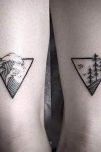 Фото тату горы в треугольнике 23.07.2019 №025 - mountain triangle tattoo - tattoo-photo.ru