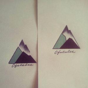 Фото тату горы в треугольнике 23.07.2019 №031 - mountain triangle tattoo - tattoo-photo.ru